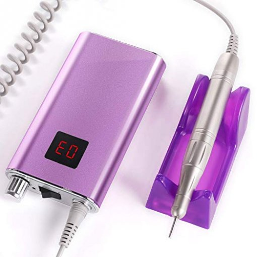 35000RPM Rechargeable Nail Drill- Amazing PurPle Color