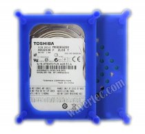 Wavertec 2.5 SATA IDE Hard Drive HDD Silica Case Blue Anti-Shock Protective Case Plastic