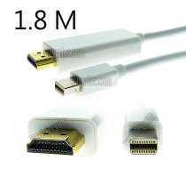 Wavertec 6Ft 1.8M Mini DP to HDMI Cable Thunderbolt Mini Displayport to HDMI