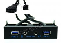Wavertec 3.5 Front Panel USB and Audio Ports HD Audio USB 3.0 20 Pin Header