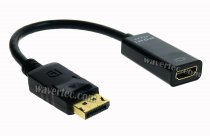 Wavertec 4K Displayport Male to HDMI 2.0 Female Short Converter Adapter Cable OEM