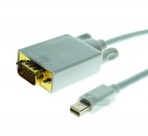 Wavertec 1.8M 6 Foot Mini DisplayPort to VGA Adapter Cable VGA Male MacBook
