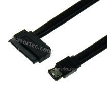 Wavertec 50cm 1 .6 Foot eSATA to 22 Pin SATA Cable with Power HDD Adapter