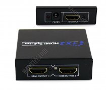 Wavertec HDMI 1.4 1 in 2 out Splitter Box 1080P 3D HDMI Hub UK Plug Compliant 19 Pin Full HD Compatible with HDMI 1.3 Female to Female HDMI Hub Extender Connector 1x2 Switch Dual Screen OEM