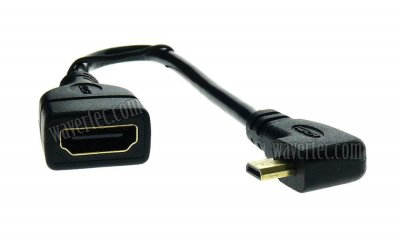 Wavertec Micro HDMI to HDMI Female Adapter Cable Micro HDMI Type D to HDMI