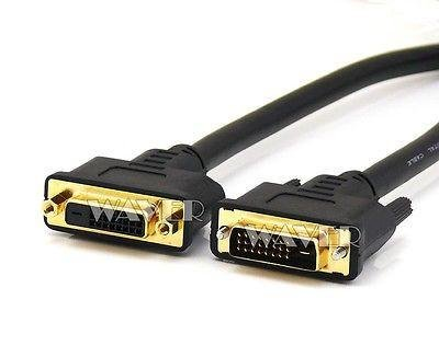 Wavertec 1.6Ft 50cm DVI Male to DVI Female Cable Extension DVI-D Dual Link