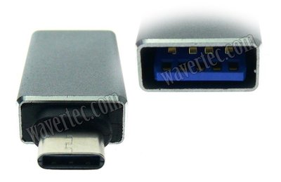 Wavertec MacBook Samsung USB C Male to USB 3.0 A Male Adapter OTG