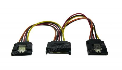 Wavertec 1:2 SATA Power Y Cable Extension Splitter Dual 2 x SATA Adapter