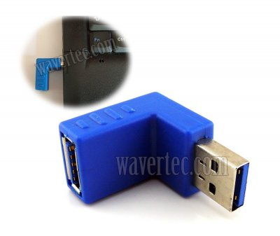 Wavertec Upward 90 Degree USB Extension Male to Female Adapter Right Angle