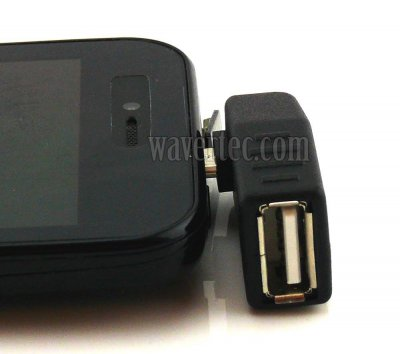 Wavertec Right Angled OTG Adapter Micro USB Male to USB Female
