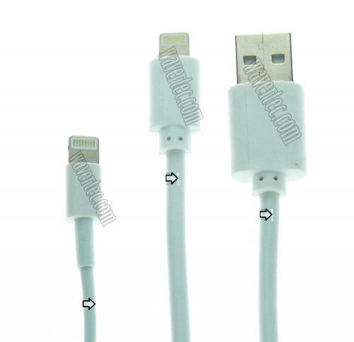 Wavertec 2m 6ft Co Lightning Cable Fast Charging Data Sync And Charge Le 8 Pin Male To Usb For Ipad Air Mini 4 3 2 Iphone