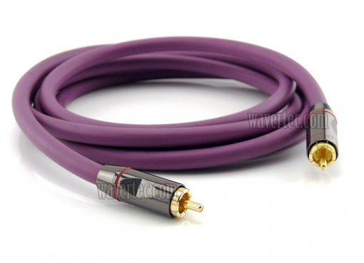 Wavertec 10Ft 3M Coaxial Video Cable RCA Male to RCA Male OFC