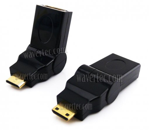 Wavertec 90 180 Degree Mini HDMI to HDMI Adapter Mini HDMI Male HDMI Female