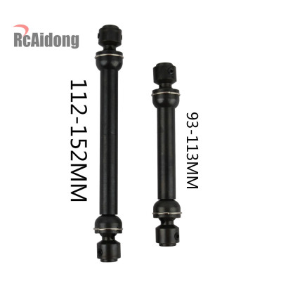 2pcs RC Car 1//10 Drive Shaft Dogbone Metal Steel 112-152mm for Axial Scx10 Upgraded Parts