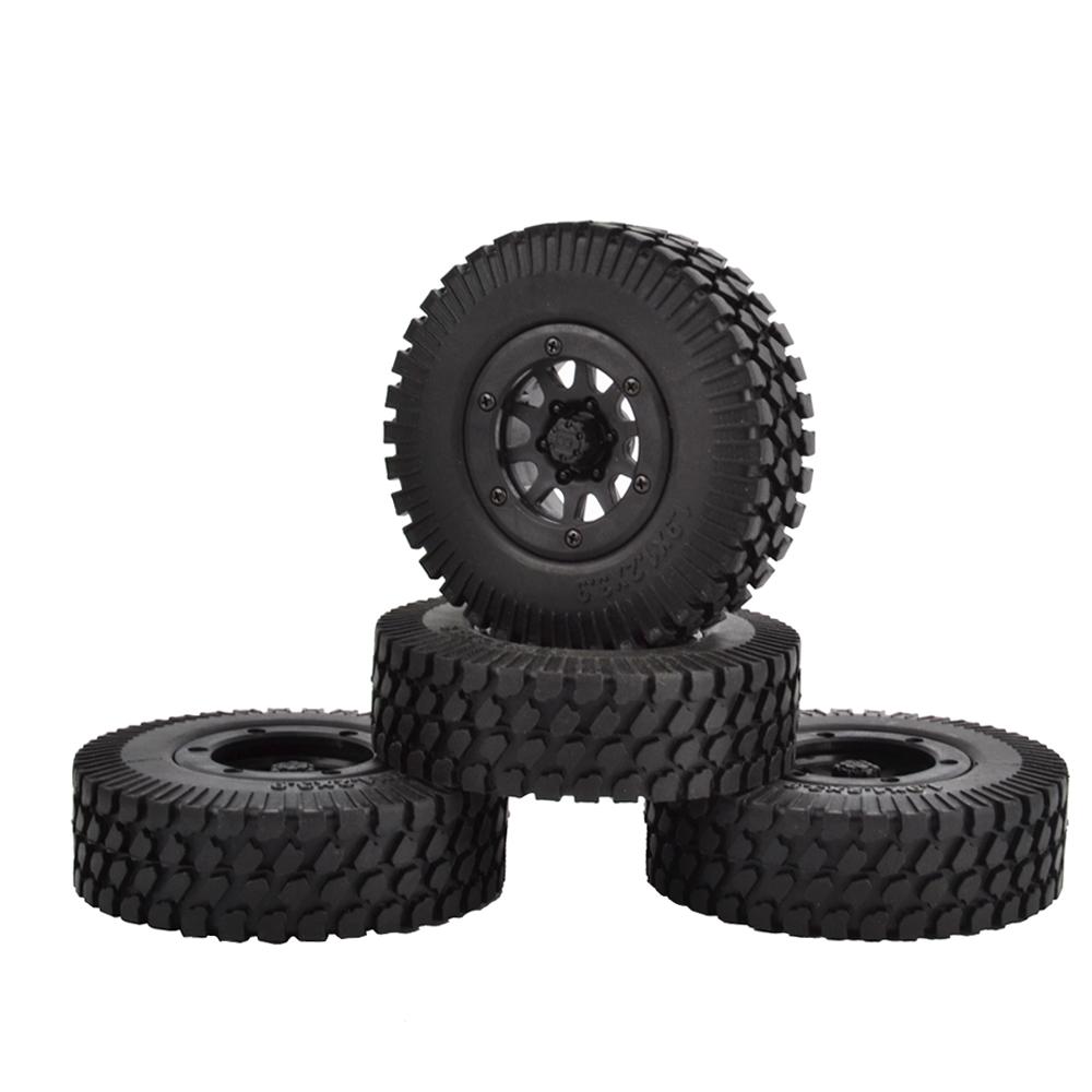 4PCS 96mm Tyre RC 1//10 Off-Road Car Beach Rock Crawler Tires Wheels Rim