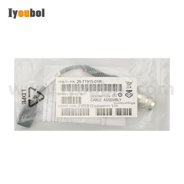 USB Host Cable (25-71915-01R) for Symbol VC5090 (Half Size)