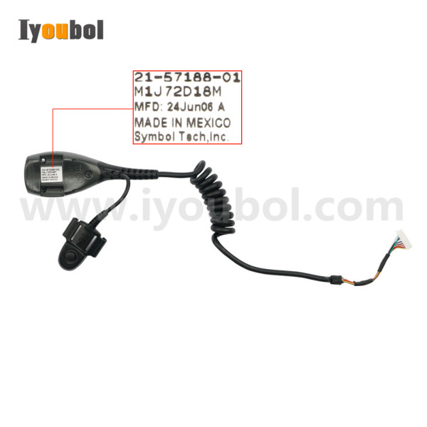 Power Cable with Trigger Switch Replacement for Symbol WSS1000 WSS1060