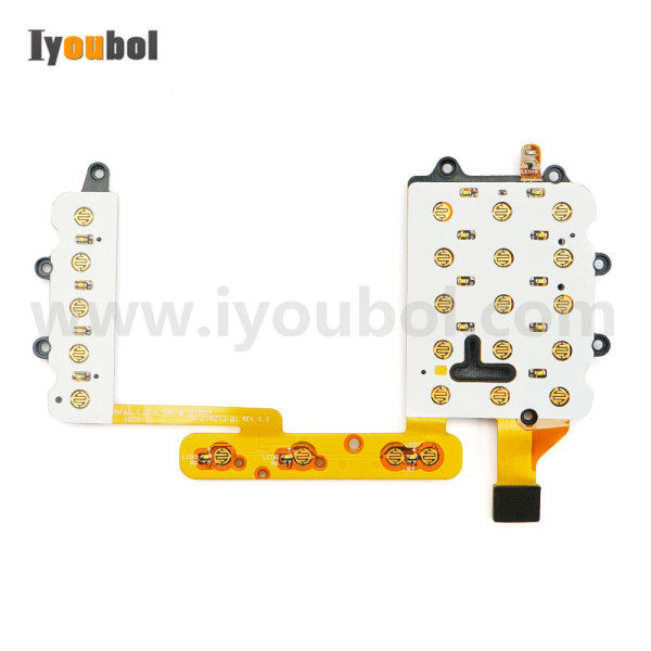 Keypad PCB with Flex Cable Replacement for Motorola Symbol WT4090