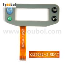 Keypad with Myler Keyswitch Replacement for Zebra QL220