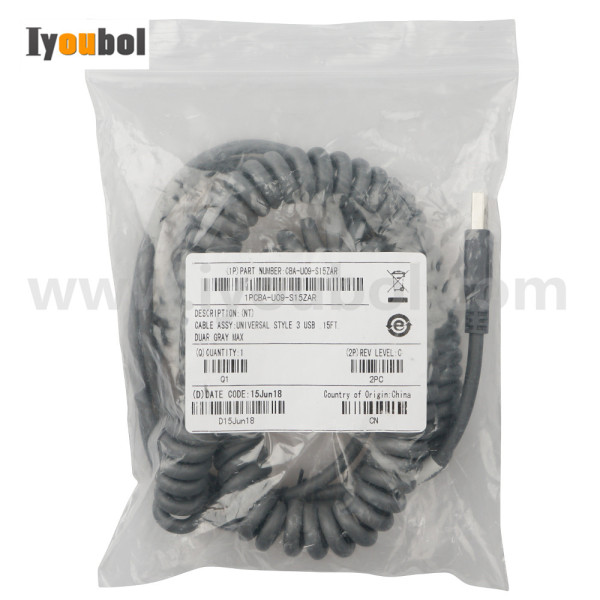 Extended Scanner Cable for Symbol LS3408-ER, LS3408-FZ series