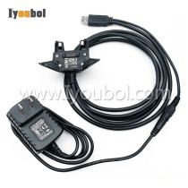 USB Client Comm& Power Cable With Adapter Charging for Zebra Motorola TC75 TC70 TC72 TC77