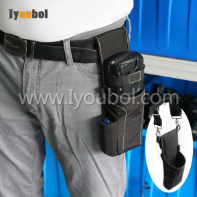 Soft material holster for Psion Teknologix Workabout Pro 3, 7527C-G3 (for Gun Type)