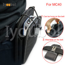 Leather Case ( Vertical ) with Belt Clip for Symbol MC40 MC40CN
