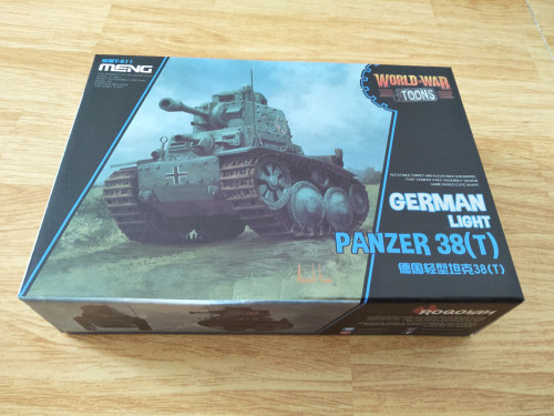 Meng WWT-011 German Light Tank Panzer 38T Q Edition Plastic Assembly Model Kit