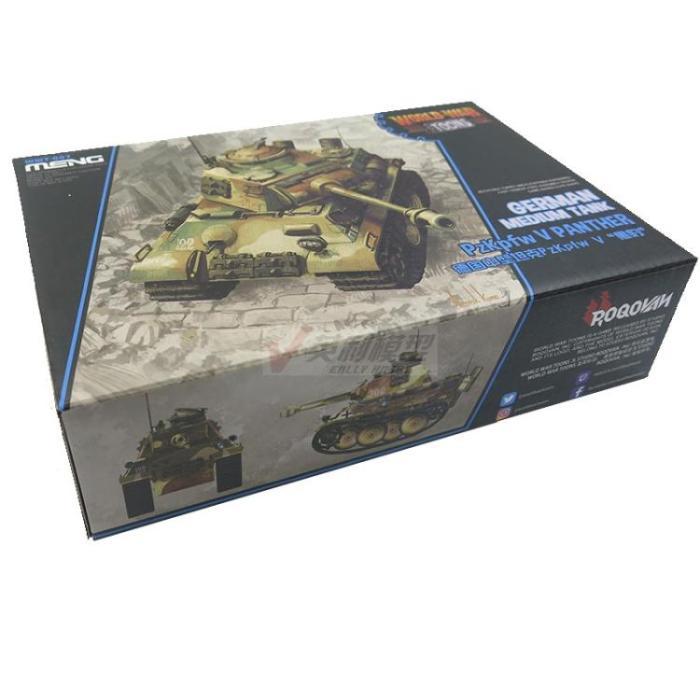 Meng WWT-007 German Medium Tank Pz.Kpfw V Panther Q Edition Assembly Model Kit
