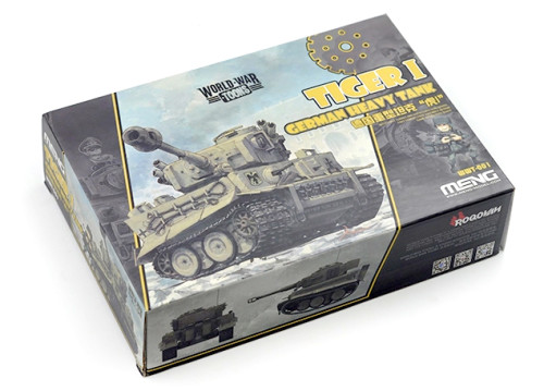 Meng WWT-001 German Heavy Tank Tiger I Q Edition Plastic Assembly Model Kit
