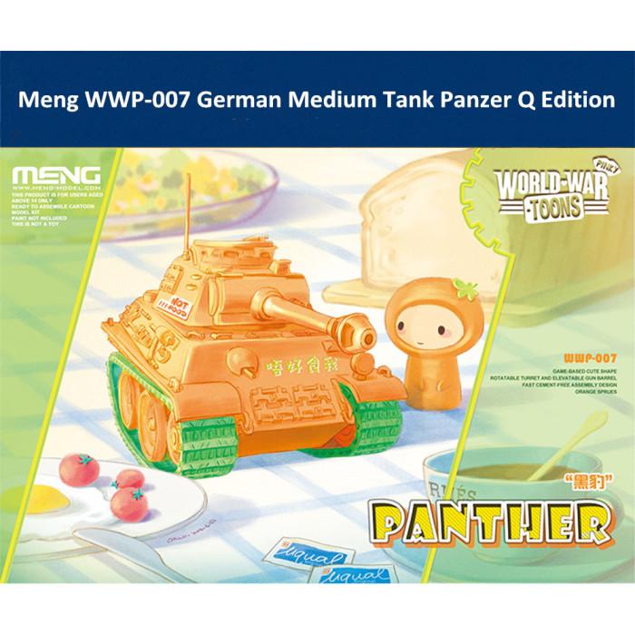 Meng WWP-007 German Medium Tank Panzer Q Edition Plastic Assembly Model Kit