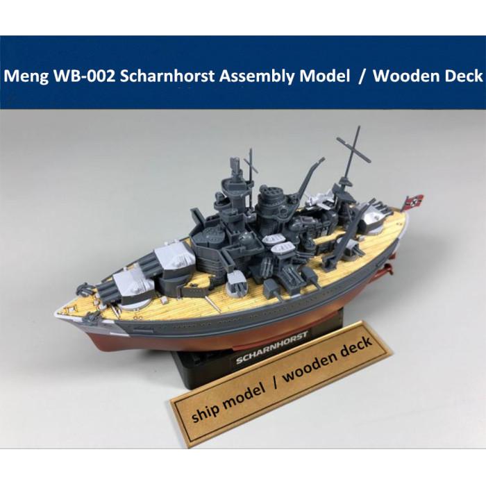 Meng WB-002 Warship Builder Scharnhorst Q Edition Assembly Model Kit/Wooden Deck CYD001