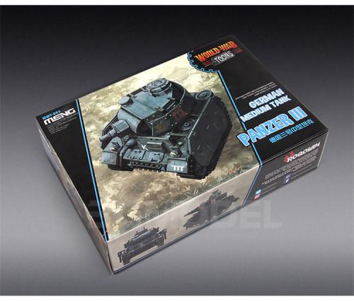 Meng WWT-005 German Medium Tank Panzer III Q Edition Plastic Assembly Model Kit