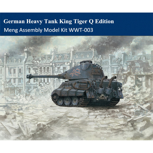 Meng WWT-003 German Heavy Tank King Tiger Porsche Turret Q Edition Plastic Assembly Model Kit