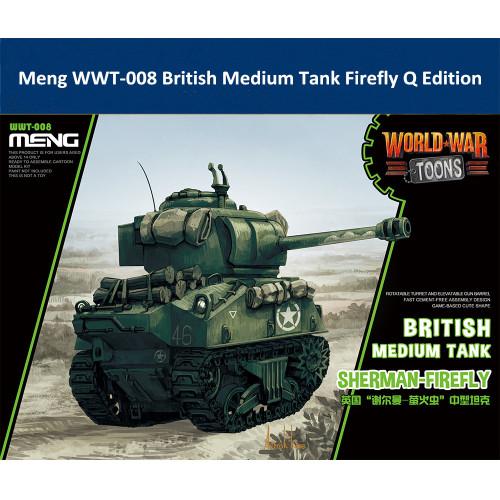 Meng WWT-008 British Medium Tank Sherman Firefly Q Edition Plastic Assembly Model Kit