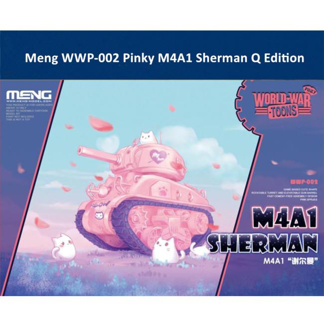 Meng WWP-002 Pinky M4A1 Sherman Q Edition Plastic Assembly Model Kit