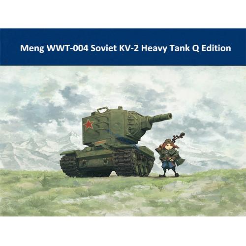 Meng WWT-004 Soviet KV-2 Heavy Tank Q Edition Plastic Assembly Model Kit