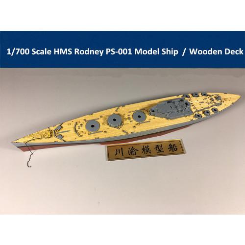 Meng PS-001 1/700 Scale Royal Navy Battleship HMS Rodney Assembly Model Kit/Wooden Deck CY700021