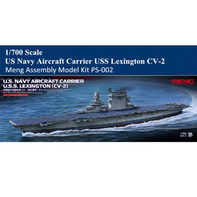 MENG PS-002 1/700 Scale US Navy Aircraft Carrier USS Lexington CV-2 Assembly Model Kit