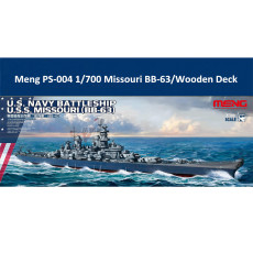 Meng PS-004 1/700 Scale US Navy Battleship BB-63 Missouri Assembly Model Kit/Wooden Deck CY700017