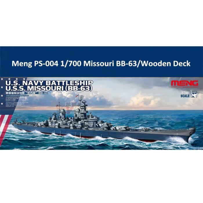 Meng PS-004 1/700 Scale US Navy Battleship BB-63 Missouri Assembly Model Kit/Wooden Deck CY700017