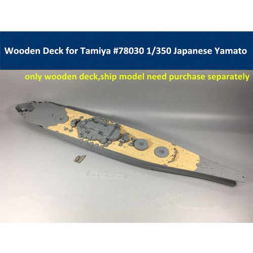Wooden Deck for Tamiya 78030 1/350 Scale Japanese Battleship Yamato Model CY350006