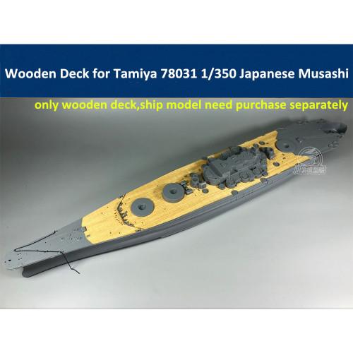 Wooden Deck for Tamiya 78031 1/350 Scale Japanese Battleship Musashi Model CY350041