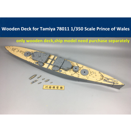 Wooden Deck for Tamiya 78011 1/350 Scale British Battleship Prince of Wales Model CY350020
