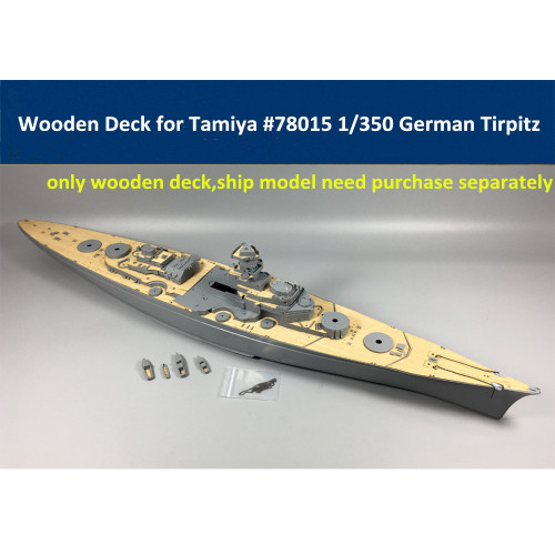 Wooden Deck for Tamiya 78015 1/350 Scale German Battleship Tirpitz Model CY350014