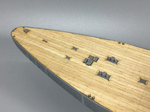 Wooden Deck for Tamiya 78013 1/350 Scale German WWII Battleship Bismarck Model CY350008