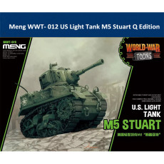 Meng WWT- 012 US Light Tank M5 Stuart Q Edition Plastic Assembly Model Kit