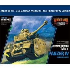 Meng WWT- 013 German Medium Tank Panzer IV Q Edition Plastic Assembly Model Kit