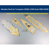 Wooden Deck for Trumpeter 05302 1/350 Scale HMS HOOD Model Kit CY350007