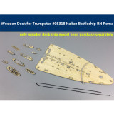 Wooden Deck for Trumpeter 05318 1/350 Scale Italian Navy Battleship RN Roma Model CY350015